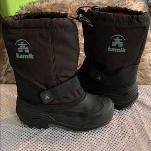 HAMIK BIG BOYS RAIN SNOW BOOTS SIZE 5